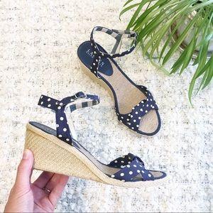 Ralph Lauren Cheryl Espadrille Wedge Sandal 9.5